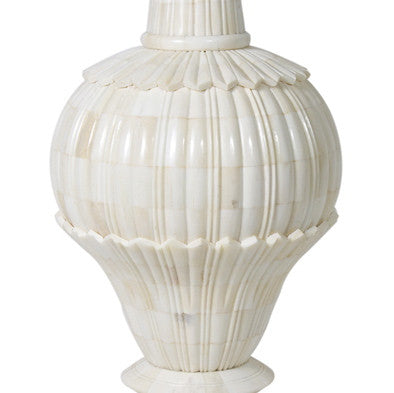 Jamie Young Carved Bone Table Lamp Large