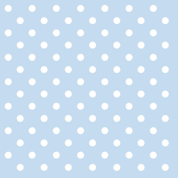 Pastel Blue Polka Dots Paper Napkins - Lunch | Putti Party Supplies