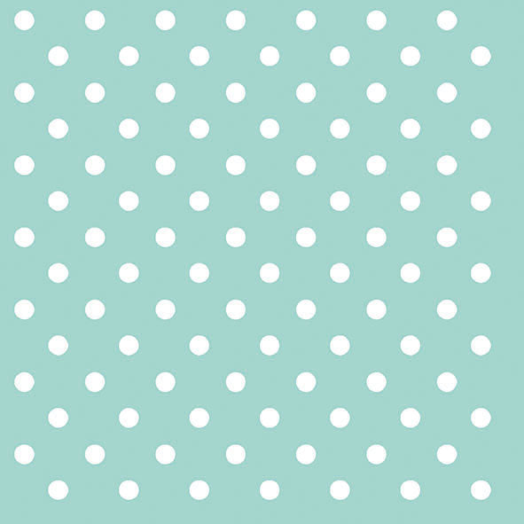 Aqua Polka Dots Paper Napkins - Lunch | Putti Party Supplies