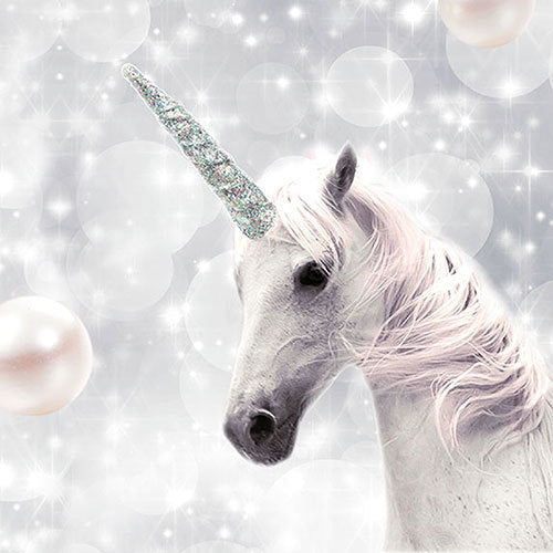 White Unicorn Lunch Napkin