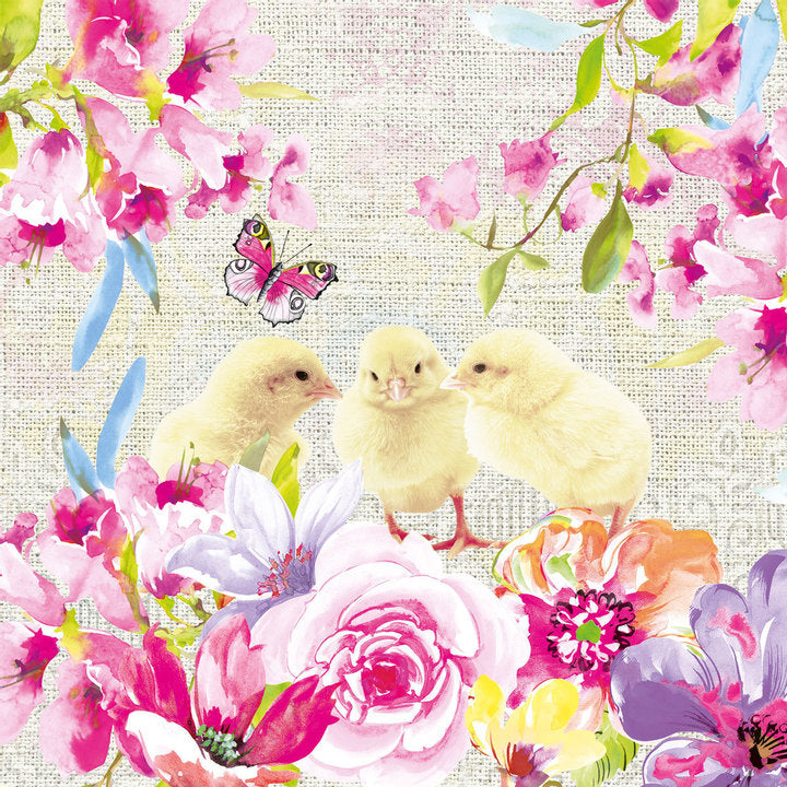 Spring Chicken Paper Napkins - Lunch | Putti Easter Party Supplies
