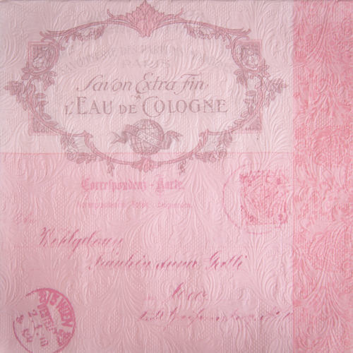Fiorentina Lettre Pink Paper Napkins - Lunch | Putti Party Supplies