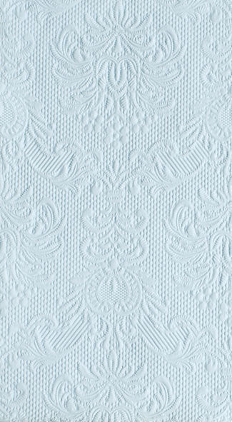 """Elegance"" Embossed Paper Guest Towel - Light Blue"