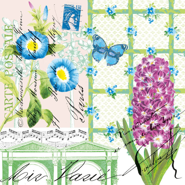 Spring Greeting Paper Napkins - Cocktail  | Putti Party Supplies