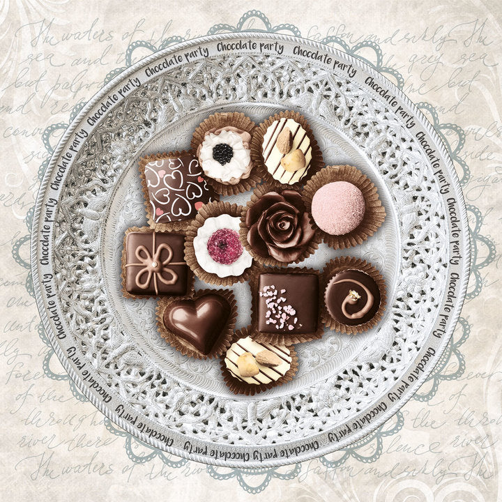 Chocolate Party Paper Napkins - Lunch | Putti Party Supplies