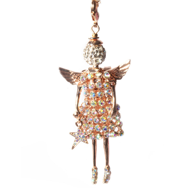 Jacqueline Kent Precious Findings Angel - Rose Gold Guardian Angel