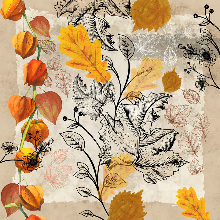 Fallen Leaves Paper Napkins - Lunch  | Putti Thanksgiving Party Supplies