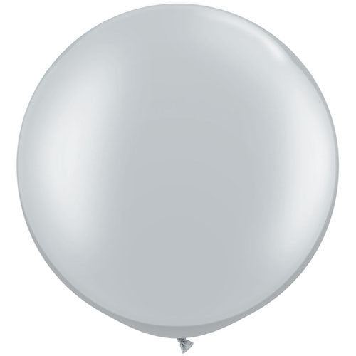 "Giant Round Balloon 30""- Metallic Silver, SE-Surprize Enterprize, Putti Fine Furnishings"