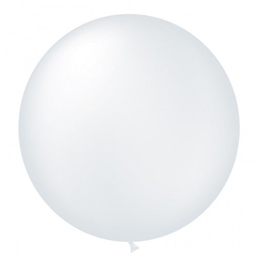 "Giant Round Balloon 30""- Pearlized White, SE-Surprize Enterprize, Putti Fine Furnishings"
