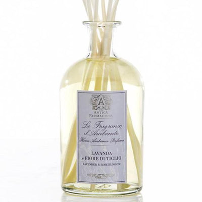 Antica Farmacista Lavender & Lime Blossom Diffuser-Home Fragrance-AF-Antica Farmacista-250ml Lavender Diffuser-Putti Fine Furnishings