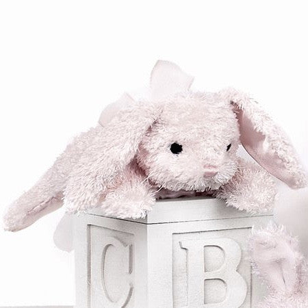 """Pink Cottontail"" Bunny - Rattle"