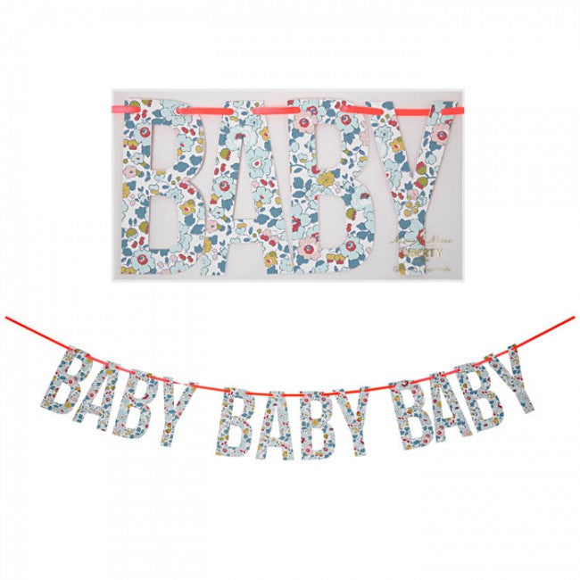 "Meri Meri Liberty ""Baby"" Garland -  Party Supplies - Meri Meri UK - Putti Fine Furnishings Toronto Canada - 1"