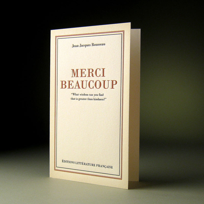 """Merci Beaucoup"" Thank You Boxed Notes, OP-Obligation Press, Putti Fine Furnishings"
