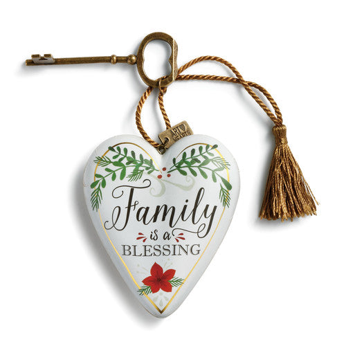 """Family is a Blessing"" Art Heart"