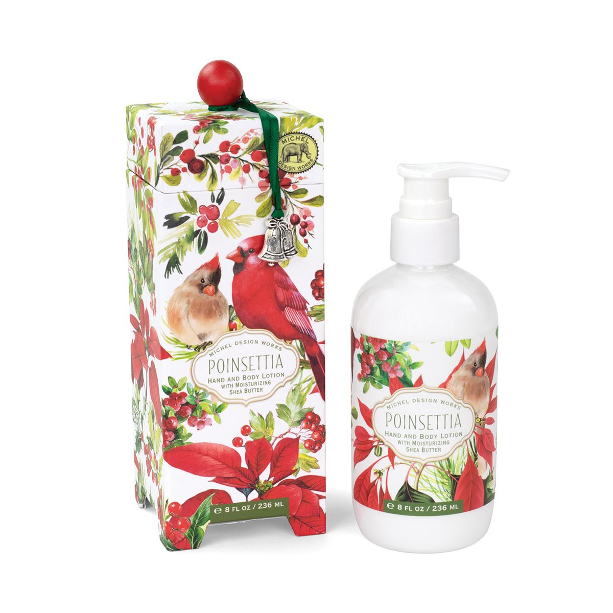 Michel Design Works Poinsettia Hand & Body Lotion | Putti Christmas Canada