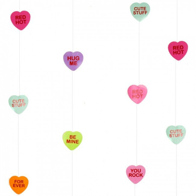 Candy Love Hearts String Decoration Garland, TF-Tiger Feet, Putti Fine Furnishings