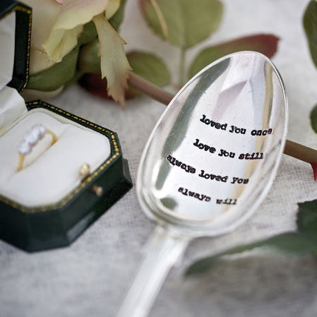 """Loved you once ..love you still...Vintage Serving Spoon"
