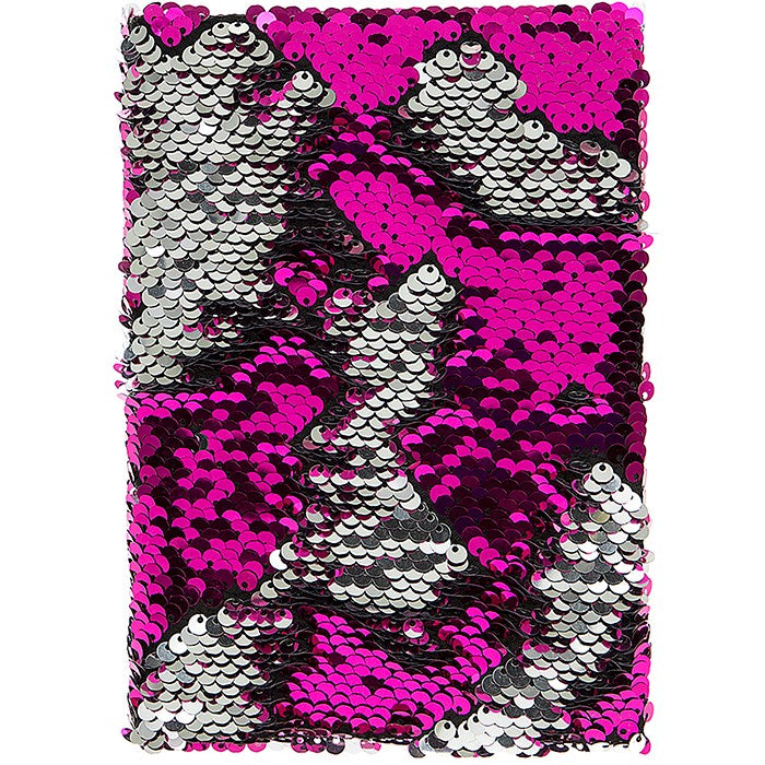 Magic Sequin Note Book Hot Pink and Silver, JDUK-Joe Davies Uk, Putti Fine Furnishings