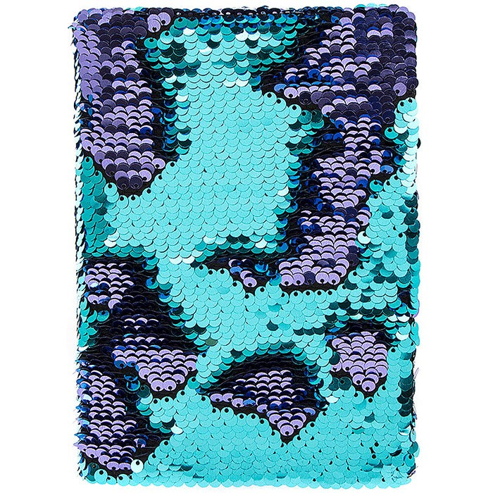 Magic Sequin Note Book Aqua and Purple, JDUK-Joe Davies Uk, Putti Fine Furnishings