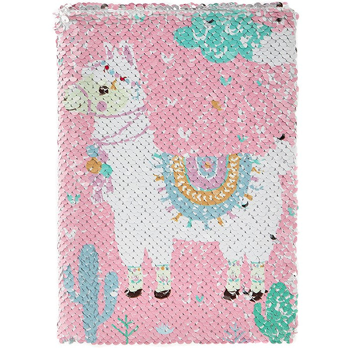 Llama Magic Sequin Note Book | Le Petite Putti Canada