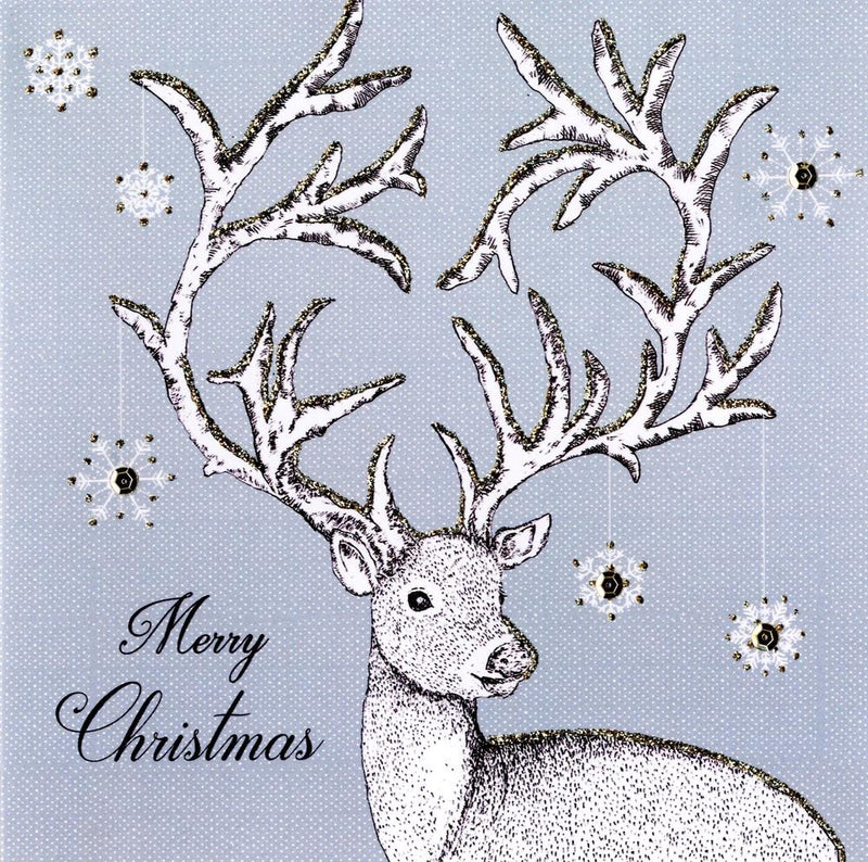 """Merry Christmas"" Reindeer Luxury Boxed Greeting Cards 