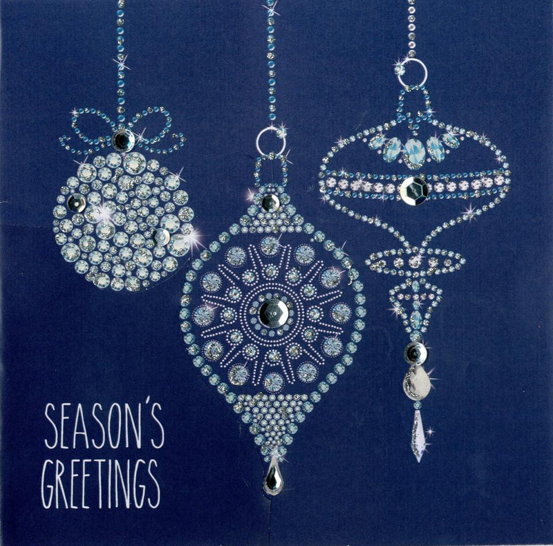 """Season's Greetings"" Blue Boxed Christmas Greeting Cards"