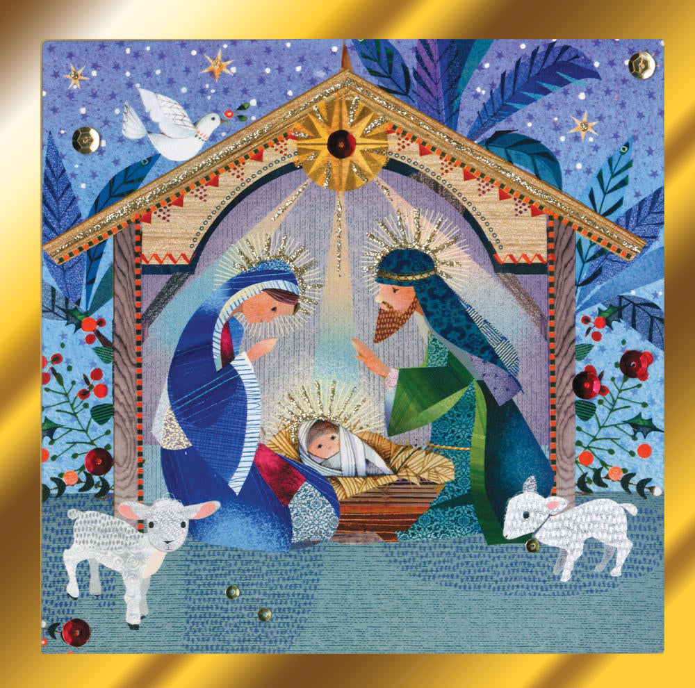 Nativity Scene Luxury Boxed Christmas Greeting Cards