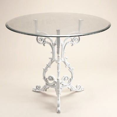 Cast Iron French Bistro Table Round, Livingstone Terrasso, Putti Fine Furnishings