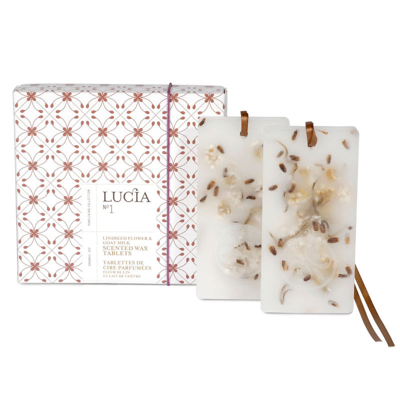 Lucia - Wax Tablets Linseed Flower & Goats Milk, Pure Living, Putti Fine Furnishings