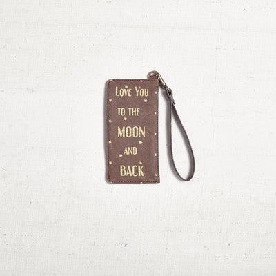 """Love you to the moon and back"" Card and Coin Purse, MB-Mona B - Design Home, Putti Fine Furnishings"