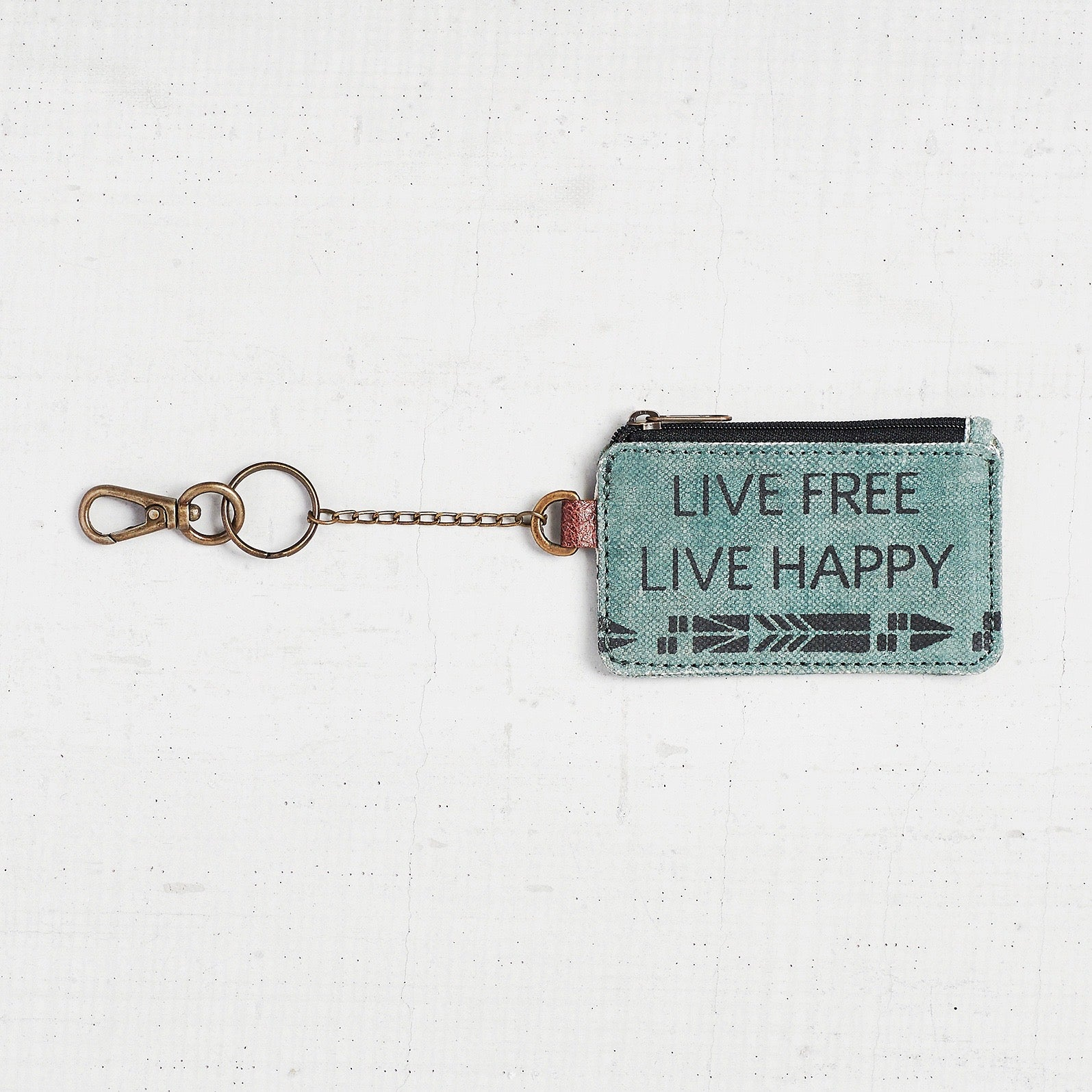 """Live Free Live Happy"" Coin Purse"