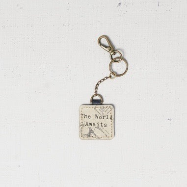 """The World Awaits"" Key Chain"