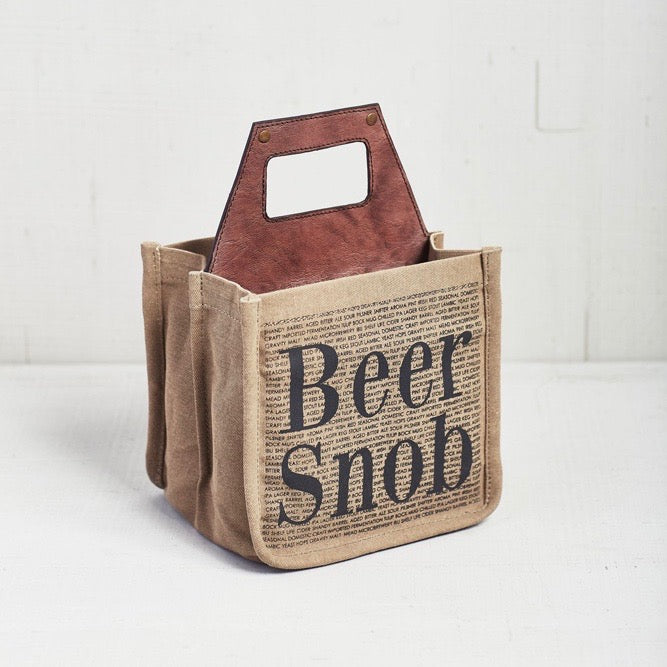 Recycled Canvas Beer Caddy - Beer Snob