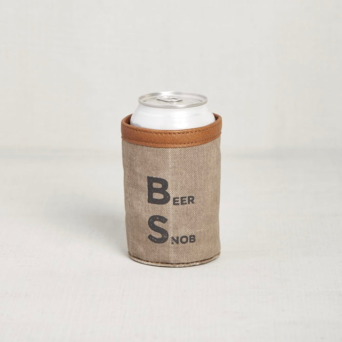 Recycled Canvas Can Koozie - Beer Snob