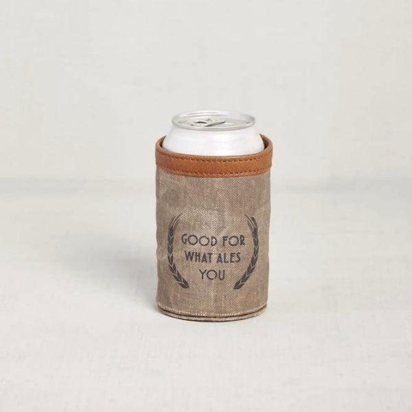Recycled Canvas Can Koozie - Good For What Ales You