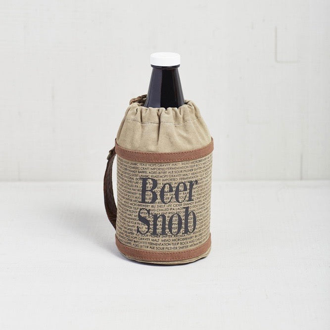 Recycled Canvas Beer Growler Cover - Beer Snob