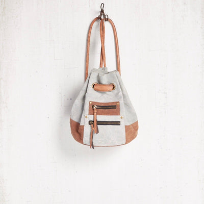 """Sutton"" Canvas Back Pack, MB-Mona B - Design Home, Putti Fine Furnishings"