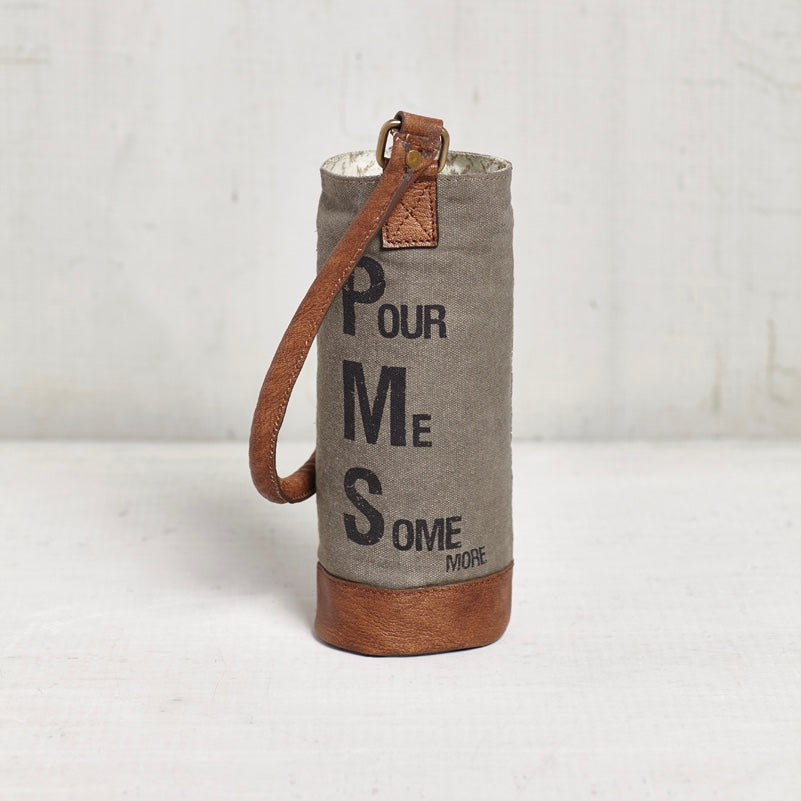 Recycled Canvas Wine Bottle Bag - PMS