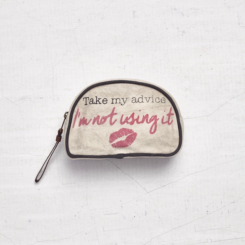 """I wake up and makeup"" Cosmetic Bag"