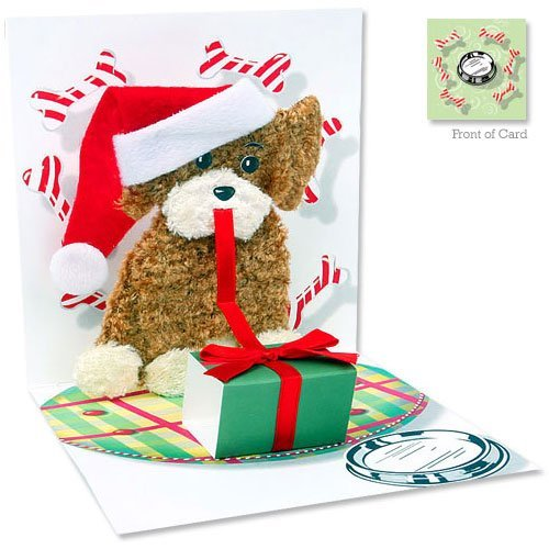 Christmas Puppy Pop Up Christmas Card - Le Petite Putti Canada