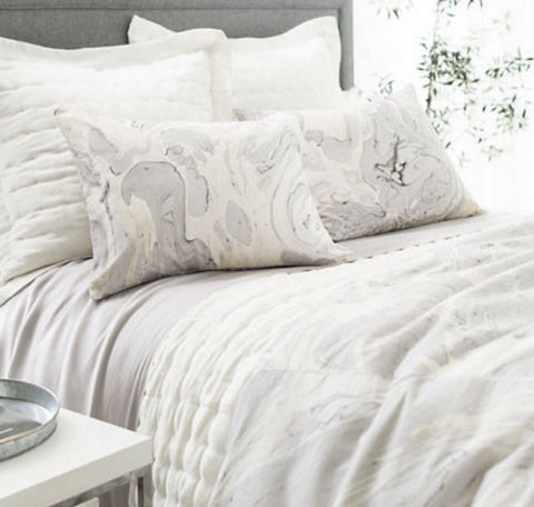 Marble Pattern Duvet - Natural-Bedding-PCH-Pine Cone Hill-Queen-Putti Fine Furnishings