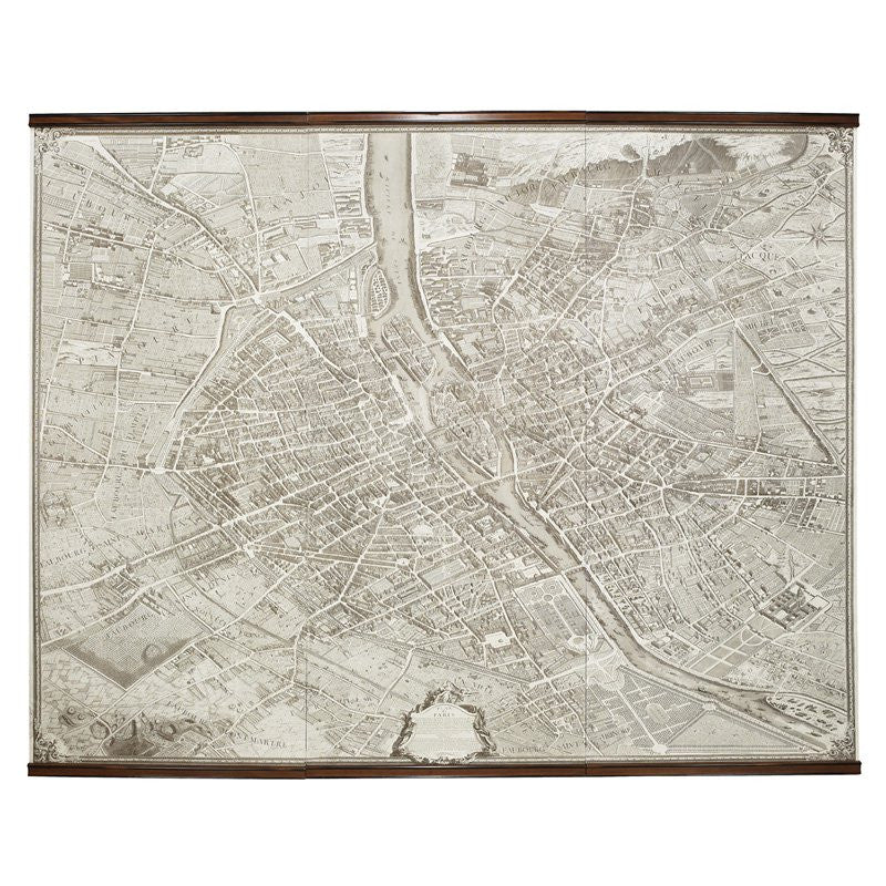 Paris Scroll Map 1739