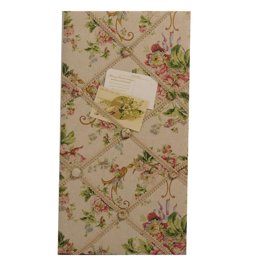 Miss Rose Sister Violet French Floral Bulletin Board-Miss Rose Sister Violet-Putti Fine Furnishings