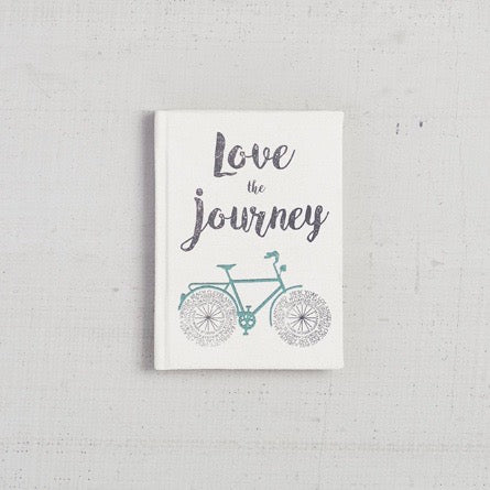 """Love is the Journey"" Canvas Journal"