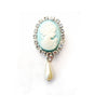 Miss Rose Sister Violet Cameo Pearl Brooch - Blue, MRSV-Miss Rose Sister Violet, Putti Fine Furnishings