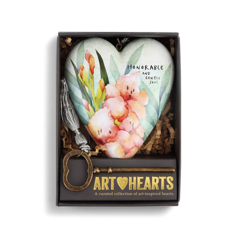 "Demdaco ""August"" Gladiolus Birth Flower Art Heart 