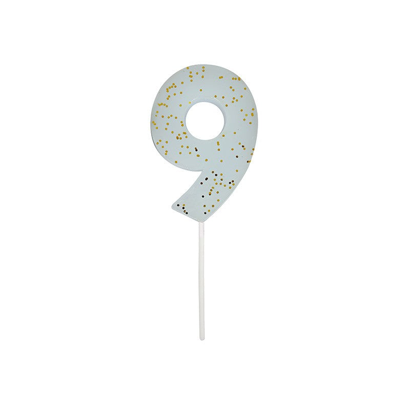 Meri Meri Blue Number 9 Candle -  Party Supplies - Meri Meri UK - Putti Fine Furnishings Toronto Canada