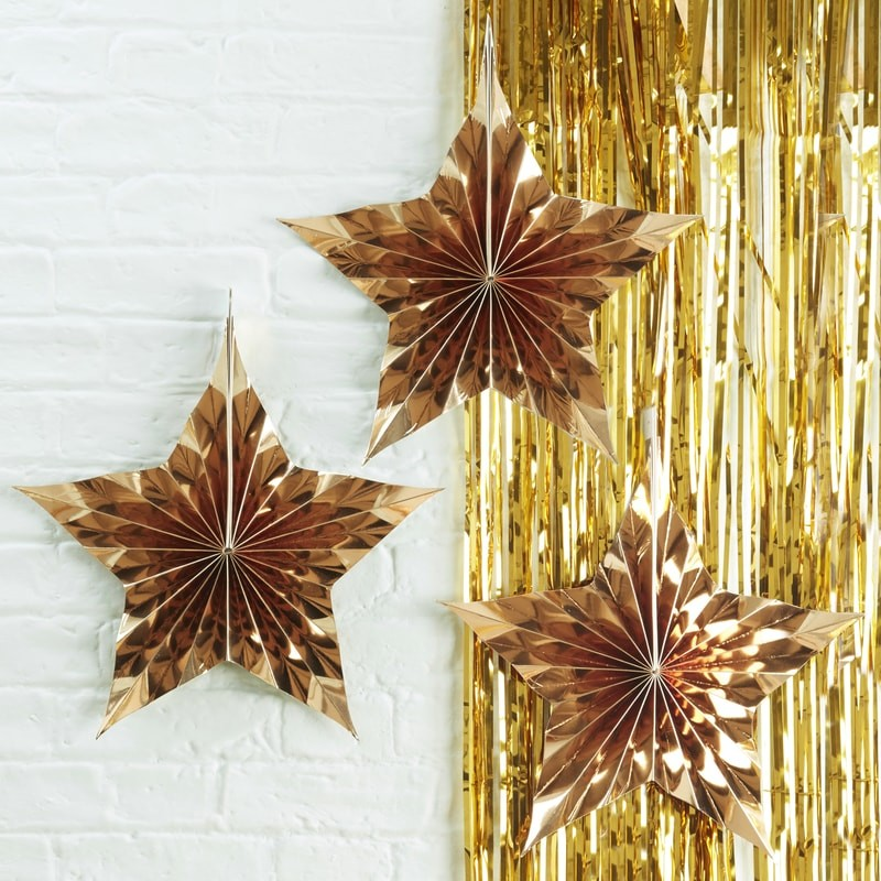 Gold Star Fan Decorations