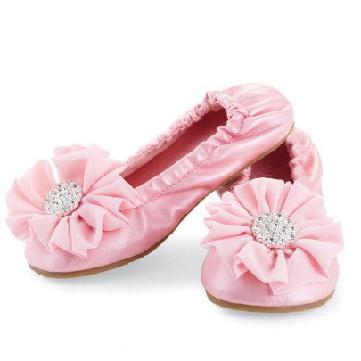 Ballet Flats Light Pink-Shoes-MP-Mud Pie-Size 12 -18 M-Putti Fine Furnishings