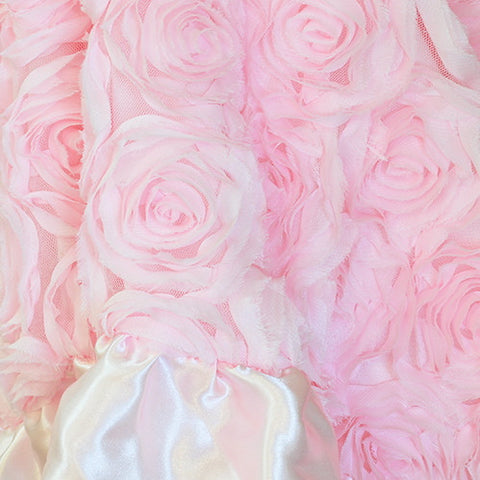 Pink Chiffon Rosette Blanket-Baby Blanket-MP-Mud Pie-pink-Putti Fine Furnishings